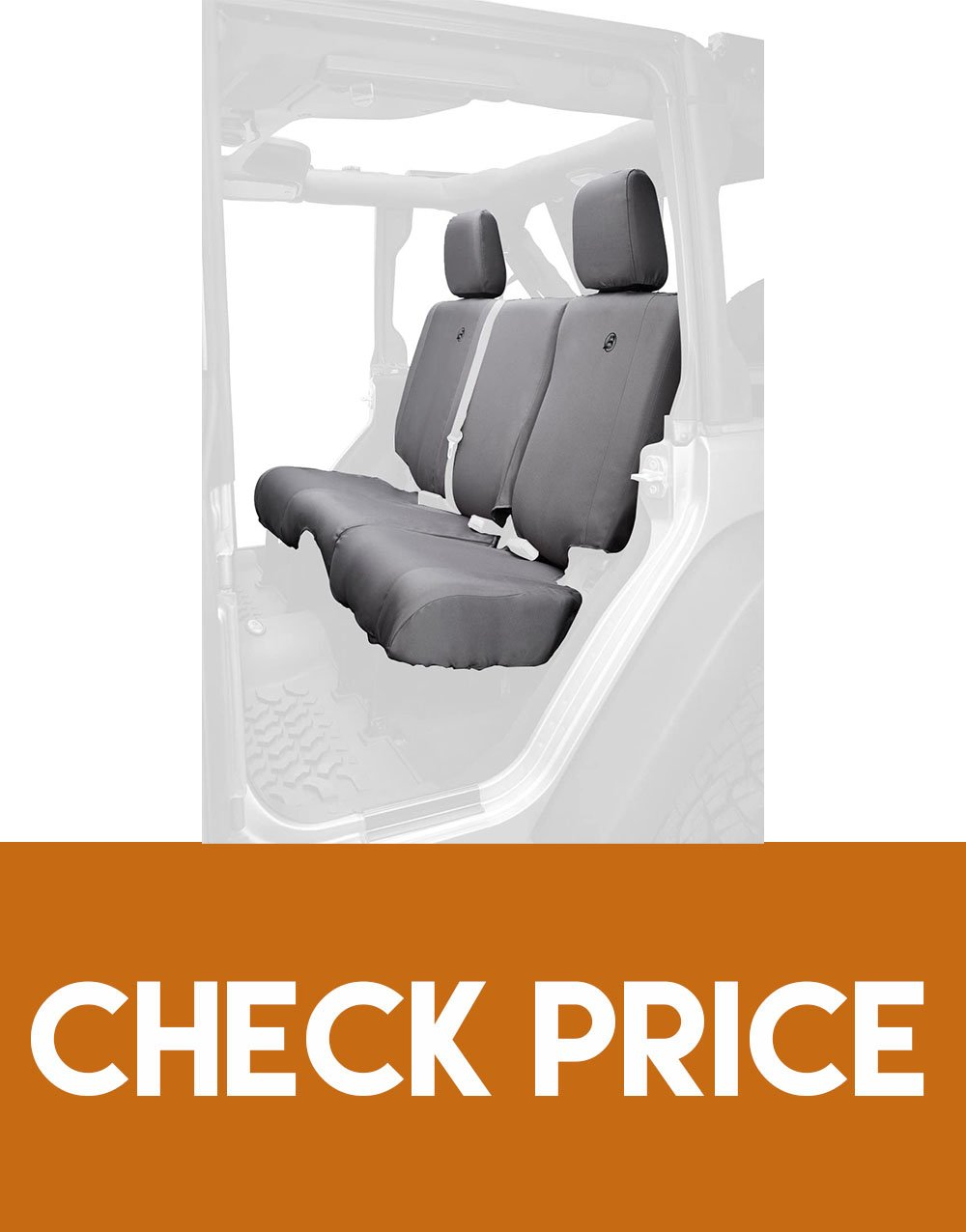 Bestop Charcoal Rear Seat Covers