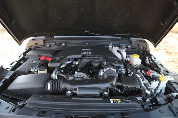 Jeep Wrangler JL engine