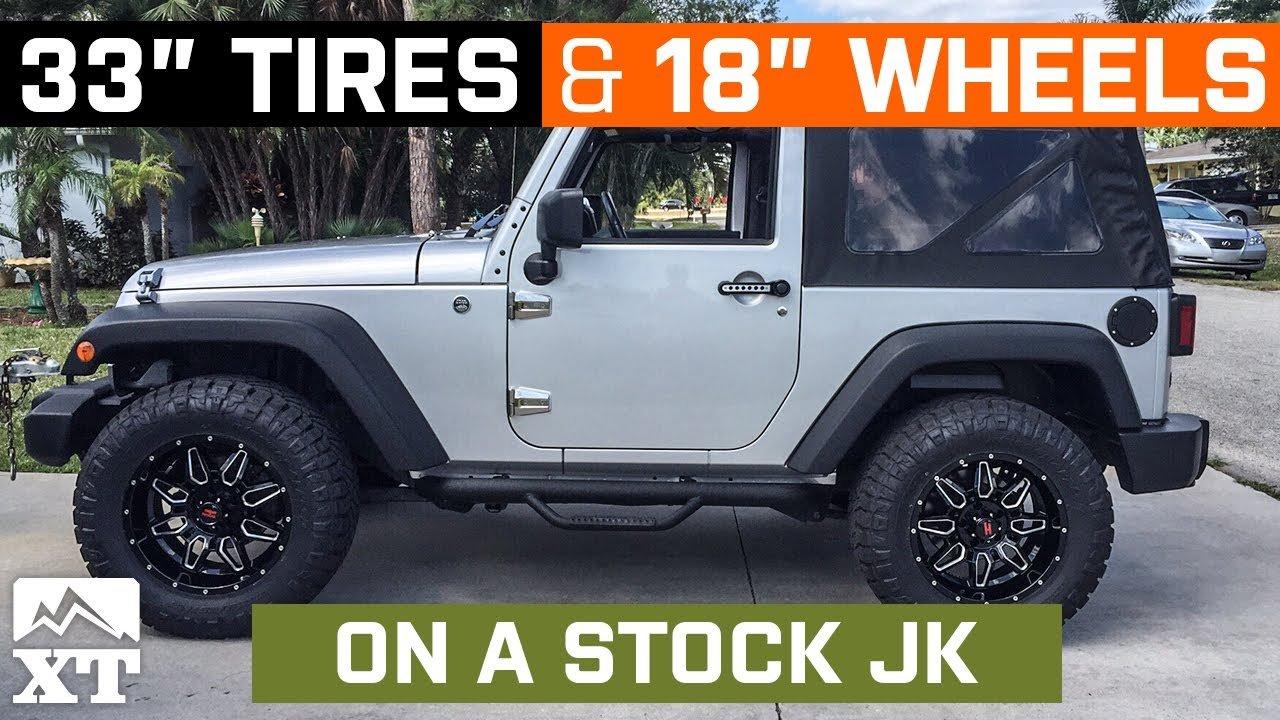 Jeep jk 33 inch tires stock wheels